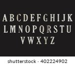 font alphabet wood black...   Shutterstock . vector #402224902
