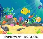 illustration of underwater... | Shutterstock .eps vector #402230602