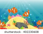 illustration of clown fish... | Shutterstock .eps vector #402230608