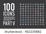 100  ready made simple vector... | Shutterstock .eps vector #402235882