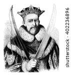 william the conqueror  vintage... | Shutterstock . vector #402236896