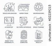 incredible future technologies... | Shutterstock .eps vector #402239215