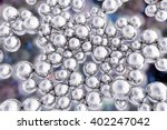 silver nanoparticles. 3d... | Shutterstock . vector #402247042