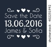 typographic wedding save the... | Shutterstock .eps vector #402251992