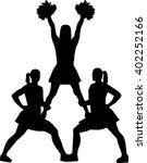 Cheerleading Pyramid Silhouette