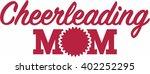 cheerleading mom | Shutterstock .eps vector #402252295