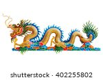 Chinese Dragon Head Statue On...