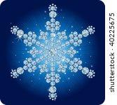 Christmas Diamond snowflake / vector illustration - stock vector