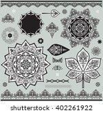 black and white celtic ornament ... | Shutterstock .eps vector #402261922
