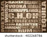 different drinks list. drink... | Shutterstock . vector #402268786