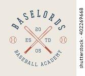 Vintage Baseball Logo  Emblem ...