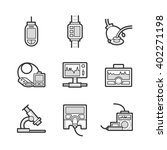 medical device icon set | Shutterstock .eps vector #402271198