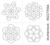 geometrical indian ornaments.... | Shutterstock .eps vector #402275566