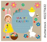 greeting card for easter day.  | Shutterstock .eps vector #402275632