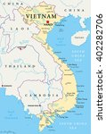 vietnam political map with... | Shutterstock .eps vector #402282706