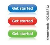 get started buttons | Shutterstock .eps vector #402288712