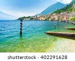landscape of lake garda with... | Shutterstock . vector #402291628