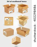 set of cardboard boxes | Shutterstock .eps vector #402298486