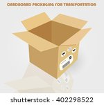 cardboard packaging for... | Shutterstock .eps vector #402298522