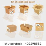 set of cardboard boxes | Shutterstock .eps vector #402298552