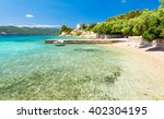 amazing adriatic sea with... | Shutterstock . vector #402304195