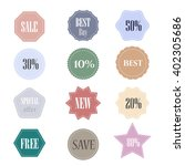 vector labels and badges set  | Shutterstock .eps vector #402305686