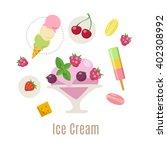 ice cream vector infographic... | Shutterstock .eps vector #402308992