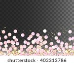 seamless border of pink... | Shutterstock .eps vector #402313786