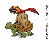 sloth riding a turtle | Shutterstock .eps vector #402313936