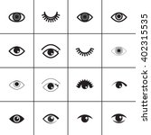 set of different eyes icons.  | Shutterstock .eps vector #402315535