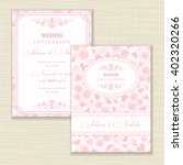 wedding invitation card with... | Shutterstock .eps vector #402320266