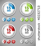 set of timers. different colors.... | Shutterstock .eps vector #40232713