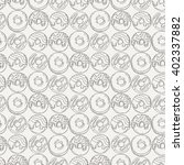 vector muffins seamless pattern.... | Shutterstock .eps vector #402337882