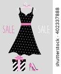 vector illustration of a polka... | Shutterstock .eps vector #402337888