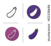 eggplant icon. flat design ... | Shutterstock .eps vector #402338686