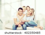 happy family. | Shutterstock . vector #402350485