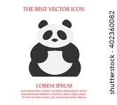 panda bear simple isolated... | Shutterstock .eps vector #402360082