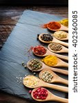 herbs and spices selection | Shutterstock . vector #402360085
