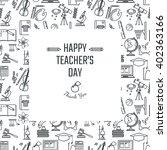 vector illustration of teachers ... | Shutterstock .eps vector #402363166