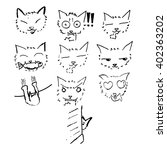 Cat Sketch Drawing In Japanese...