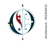 gothic initial o | Shutterstock .eps vector #402363415