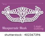 beautiful laser cut vector die... | Shutterstock .eps vector #402367396