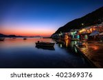 Stock photo beautiful village of klima in milos island greece just after sunset 402369376
