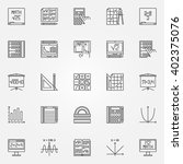 math icons set   vector linear... | Shutterstock .eps vector #402375076