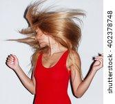 fashion flash style portrait of ... | Shutterstock . vector #402378748