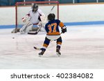 children playing ice hockey in... | Shutterstock . vector #402384082