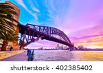 panorama of sydney harbour at... | Shutterstock . vector #402385402