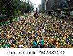 sao paulo  brazil   march 13 ... | Shutterstock . vector #402389542