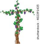 floral grapevine cross  grape...   Shutterstock .eps vector #402391435