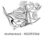 sperm in abstract style.... | Shutterstock .eps vector #402392566